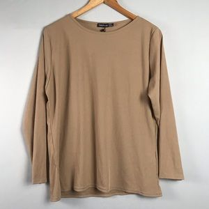 Boohoo Plus Size Ribbed Long Sleeve Top